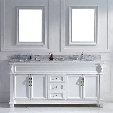 virtu usa victoria 72 inch white double sink vanity set