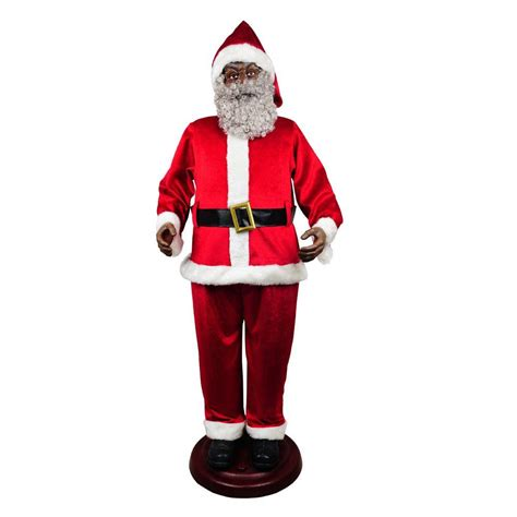 Home Accents Holiday 72 in. Animated Ethnic Santa 6230 72519 The Home Depot