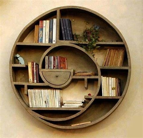 circle bookcase bookish