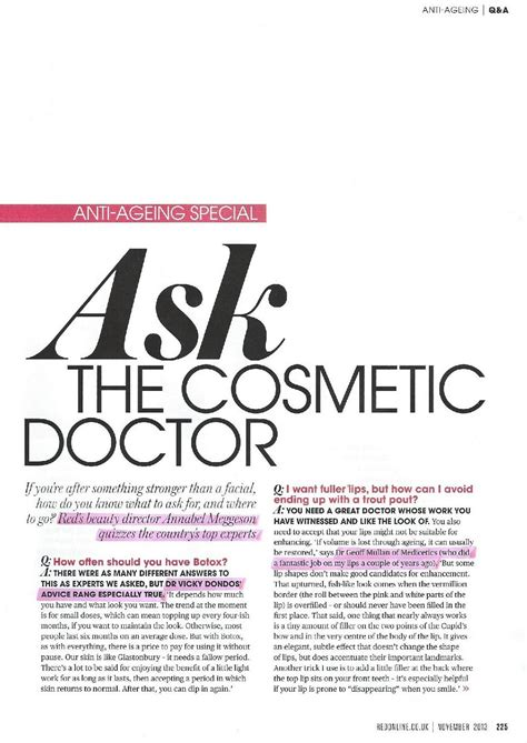 red anti ageing special ask the cosmetic doctor medicetics