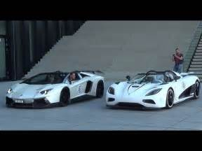 Lamborghini Vs Koenigsegg Start Up Battle Koenigsegg Agera R Vs Lamborghini