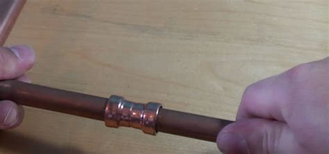 how to use copper push fit fittings to connect piping