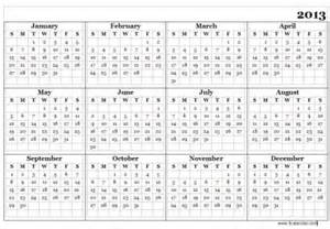 Whole Year Calendar Template by January 2013 Cast Iron Strength