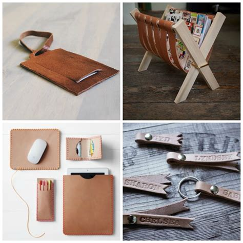 Handmade Mens Gifts - 25 diy leather gifts for