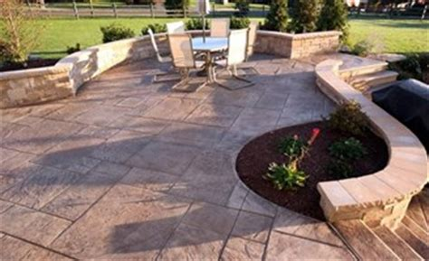 2017 imprinted concrete patio cost guide installation