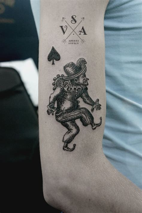 jack of spades tattoo andrey svetov arm cards and