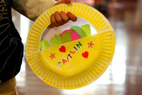 paper plate easter basket craft toddler approved paper plate easter basket