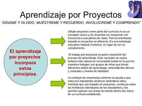 proyectos y estrategias de aprendizaje por proyectos
