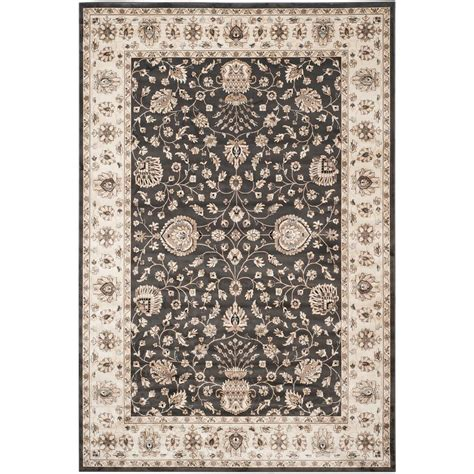 8 X 11 Area Rugs Safavieh Garden Anthracite Ivory 8 Ft X 11 Ft Area Rug Peg610e 8 The Home Depot
