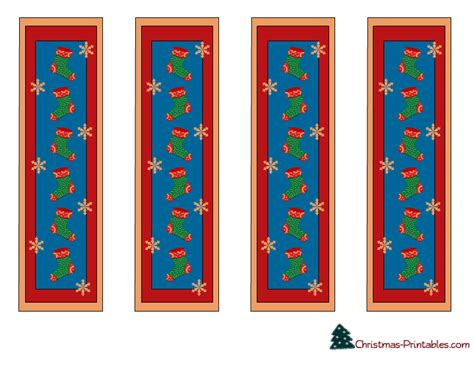 printable xmas bookmarks free printable christmas bookmarks