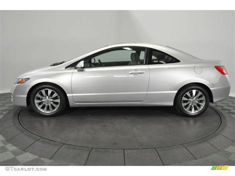 alabaster silver metallic 2009 honda civic ex coupe