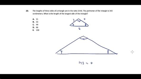 act math section practice act math practice question 20 similar triangles and