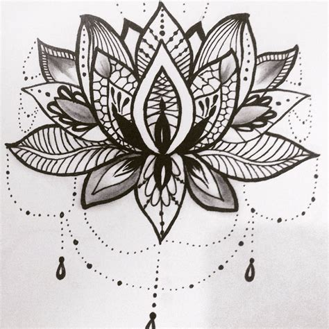 flower tattoo flash lotus flower design flower
