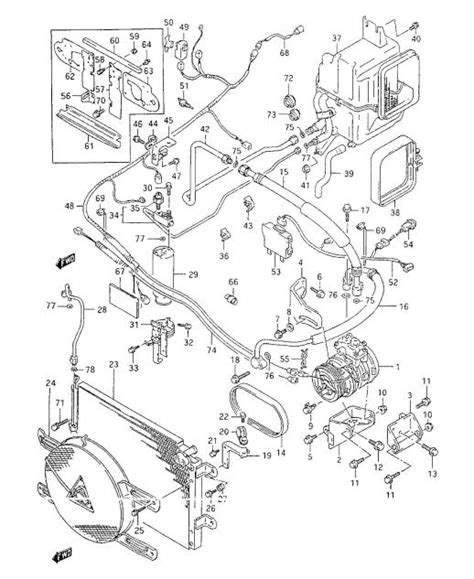 Evaporator Evap Cooling Coil Ac Suzuki Sidekick R134 Newbaru air conditioner repair