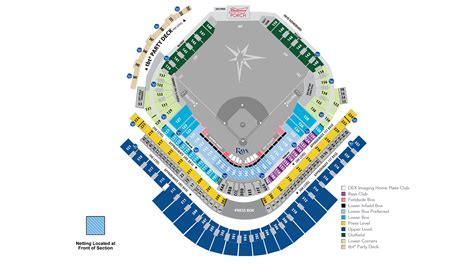 tropicana field seating chart with rows and seat numbers rays stadium seating chart brokeasshome