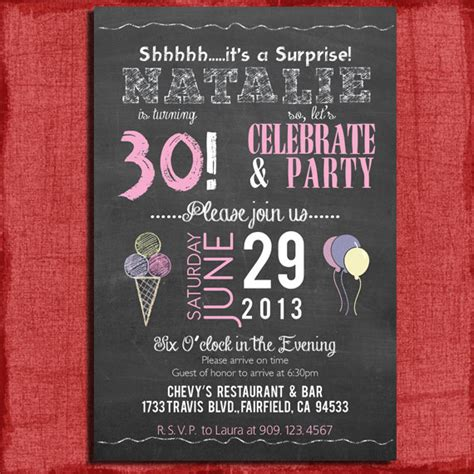 8 best images of 30th birthday invitations free printable