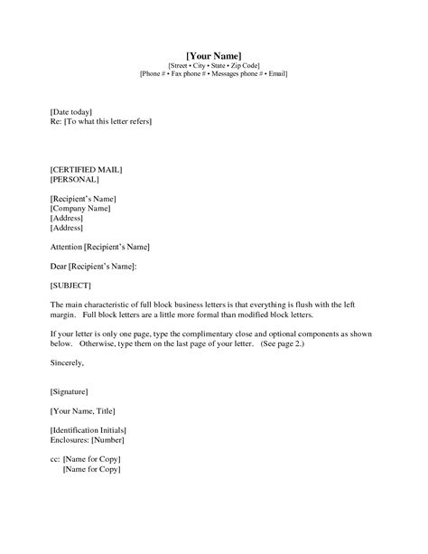 Business Letter Template With Cc Letter Format Cc And Enclosure Best Template Collection