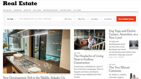 new york times real estate section luxury daily