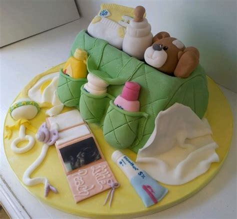 Baby Shower Cake Bags by Changing Bag Cake Baby Cakes