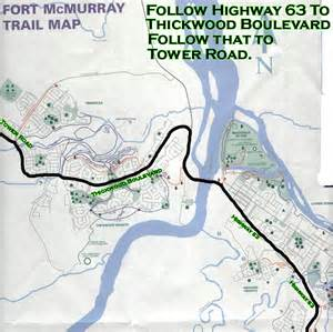 where is fort mcmurray on a map of canada tower road cground in fort mcmurray alberta