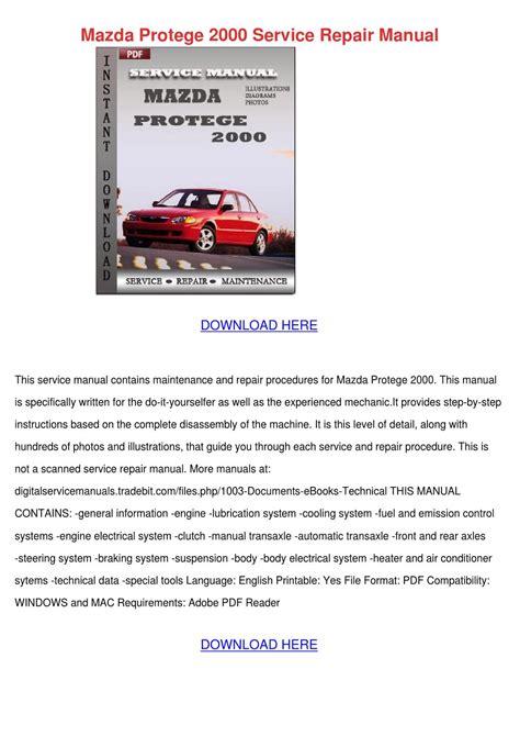 manual repair free 2000 mazda protege user handbook mazda protege 2000 service repair manual by