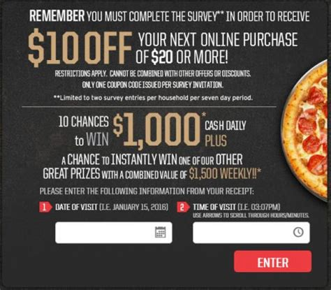 Tell Pizza Hut Sweepstakes - tellpizzahut com take the tell pizza hut survey to win