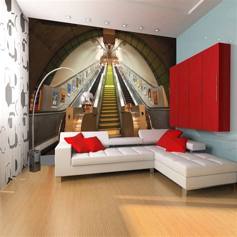wall mural paper 1 wall wallpaper mural underground subway 3