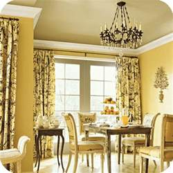 Yellow Dining Room Curtains Ideas Decorating With Yellow And Gray