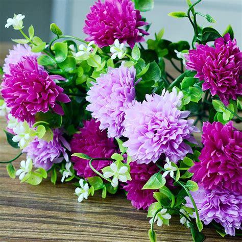 Bunga Plastik Hias Artificial Artifisial Flower Krisan Diskon bunga plastik dekoratif beli murah bunga plastik dekoratif lots from china bunga plastik