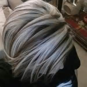 platinum hairstyles with some brown chunky platinum highlights yelp