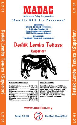 Harga Wheat Pollard madac malaysian dairy corporation