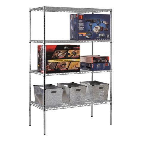 sandusky heavy duty nsf certified chrome 4 shelf wire