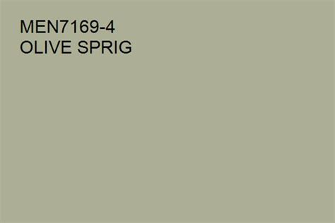 olive sprig men7169 4 a green hue from the pittsburgh paints and stains 174 paint color palette