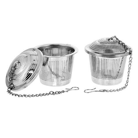 Kacamata Metal Apolo Premium 2 2 premium stainless steel tea strainer infusers 2 quot size with micro perforated mesh