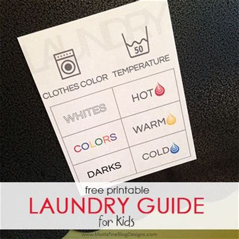 printable laundry instructions printable laundry guide for kids