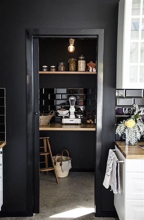 Pantry Black by 12 Black Is Beautiful Kitchens You Will Splendid