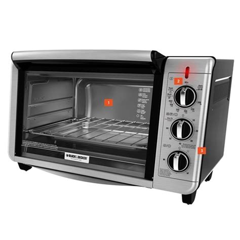 Black And Decker Countertop Oven by 6 Slice Convection Countertop Toaster Oven Black And Decker