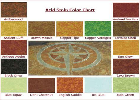 concrete acid stain color chart acid stain color chart creative concrete design llc