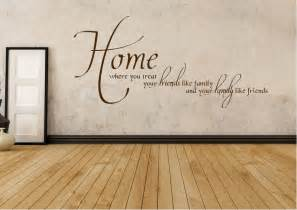 Affordable Wall Murals home family friends text quotes wall stickers adhesive