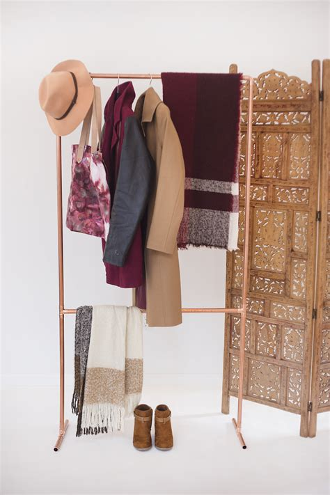 Diy Garmet Rack by Make Your Own Diy Copper Garment Rack Val Living