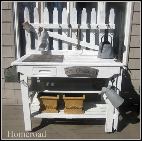 picket fence bench picket fence potting bench outdoor art pinterest