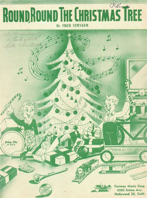 freds christmas tree 17 best images about vintage sheet covers on sheet drummers