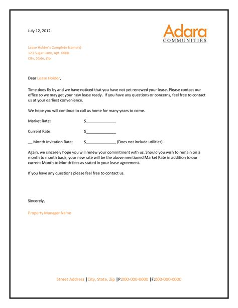 Apartment Lease Non Renewal Letter Template Best Photos Of Apartment Lease Renewal Letter Not Renewing Lease Letter Sle Apartment