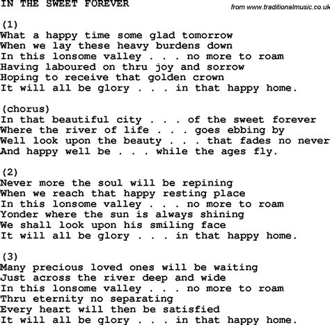 Forever House Lyrics by Country Southern And Bluegrass Gospel Song In The Sweet