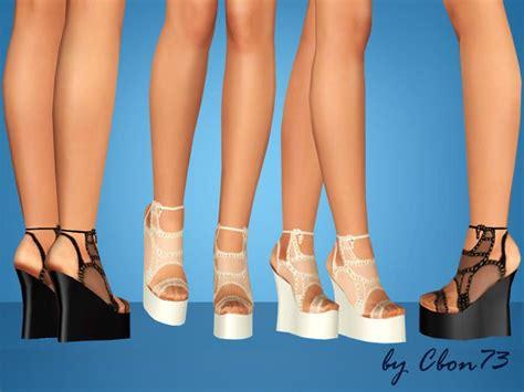 sims 4 platform heels cbon73 s seahorse platform wedges sims 3 downloads shoes