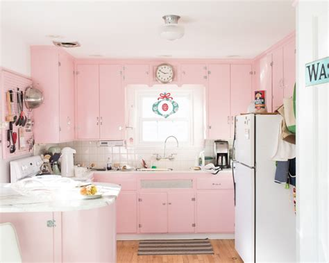 Charming Vintage Inspired Kitchen Appliances #5: 1950s-inspired-pink-kitchen-with-a-warm-and-unique-look.jpeg