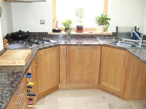 Idea For Kitchen corner hob idea but round off a wooden worktop around the