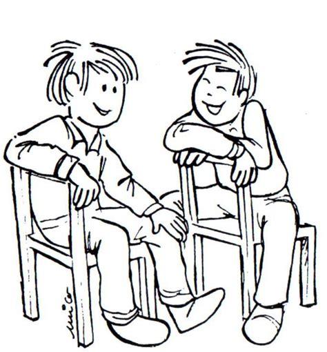 personas conversando para colorear dos personas hablando para colorear imagui