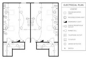 Electrical Floor Plans Patient Room Electrical Plan Floor Plans Pinterest