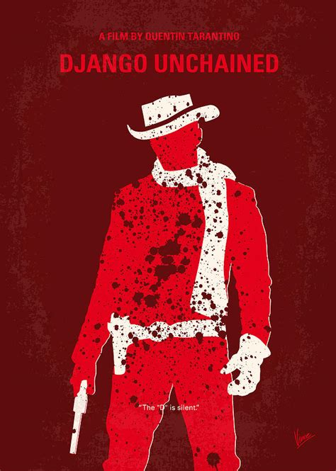 the movie art of no184 my django unchained minimal movie poster digital art by chungkong art